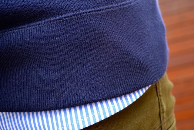 Anchor Hooded Sweatshirt + Stripe Button Down Shirt + Olive Cargo Pants