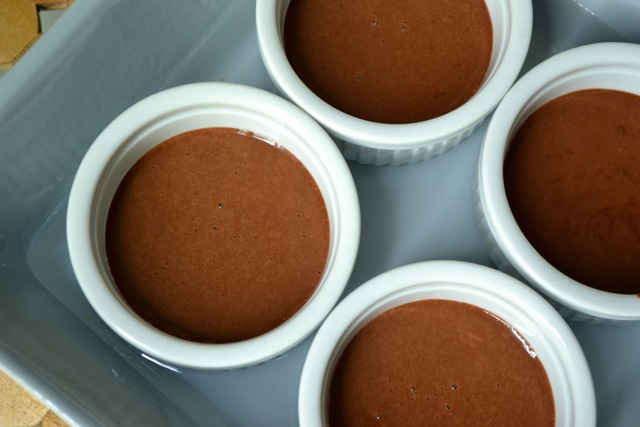 Recipe: Chocolate Pots de Creme with Whipped Cream and Strawberries 4