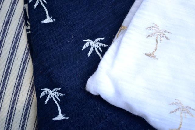 Palm Tree Print Graphic Tees