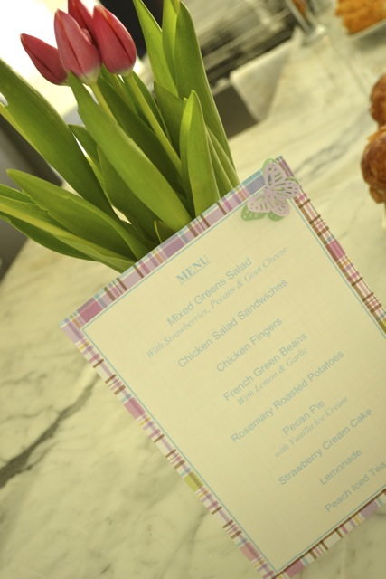 Entertaining: Spring Party: Menu