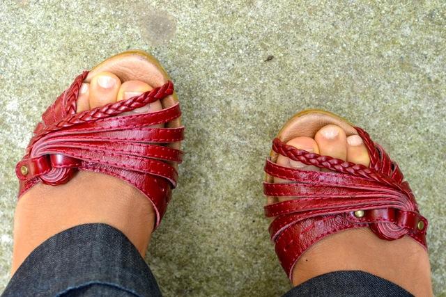 Detail: Braided Sandal Straps