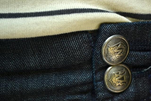 Detail: Sailor Pants + Stripe Tee