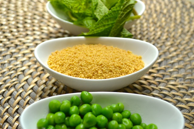Ingredients: Recipe: Whole Wheat Couscous with Mint and Peas