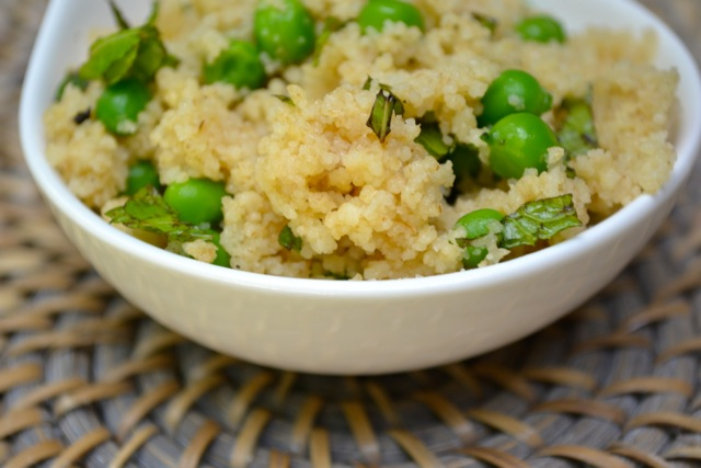Recipe: Whole Wheat Couscous with Mint and Peas 3