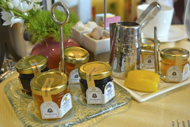 St. Regis Afternoon Tea: Condiments for Tea and Scones