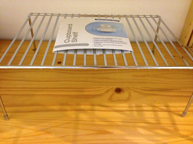 Chrome Cupboard Shelf