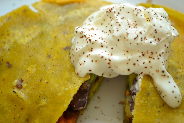 Sweet Potato, Avocado, and Black Bean Quesadilla 3