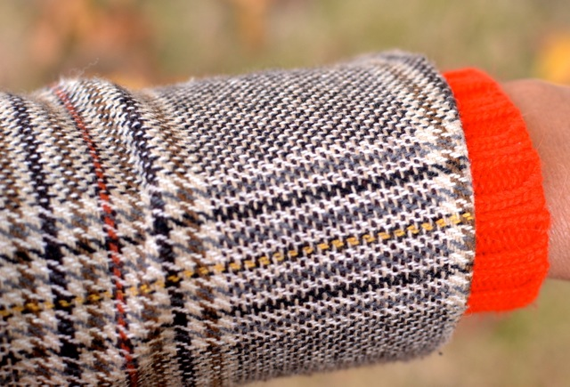 Glen Plaid, Orange, and Cream