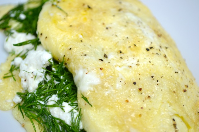 Goat Cheese and Dill Omelette