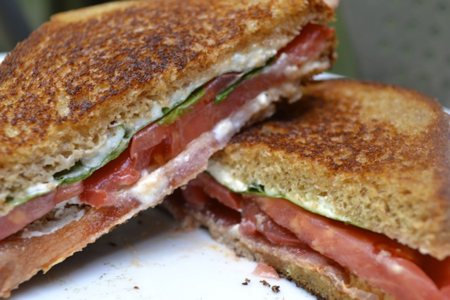 Bacon, Arugula, and Heirloom Tomato Sandwich