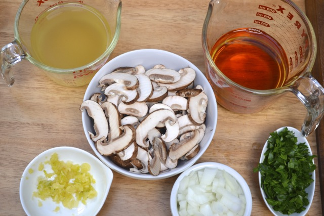 Chicken Marsala Mise en Place