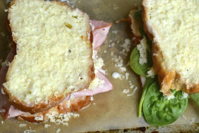 Sandwiches: Ham and Gruyere & Turkey, Spinach, and Gruyere 2