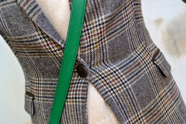 Glen Plaid Blazer + Cream Crop Sweater + Olive Corduroy Pants + Riding Boots 5
