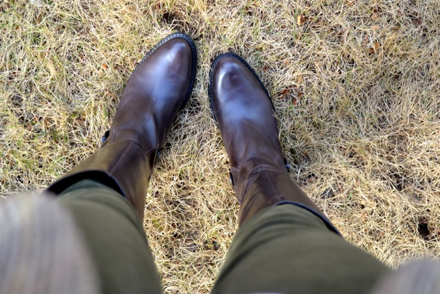 Dark Brown Riding Boots