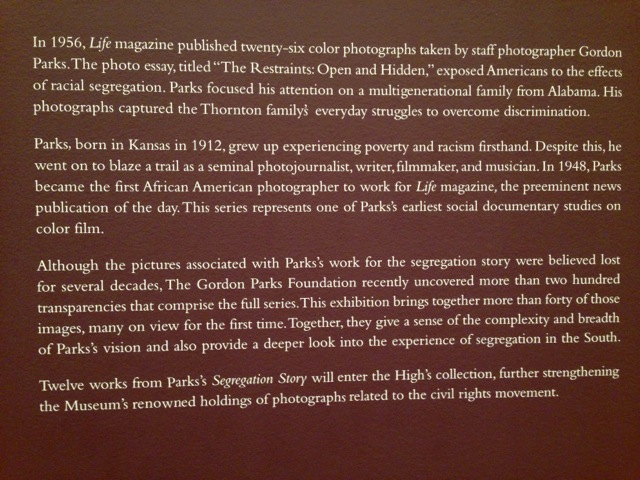 Gordon Parks: Segregation Story (High Museum Exhibit) 2